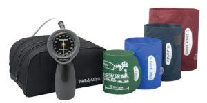 Welch Allyn Aneroid Sphygmomanometer - Trigger Hand Gauze w/Multi-Cuffs